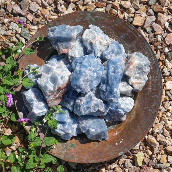 BLUE CALCITE CRYSTAL