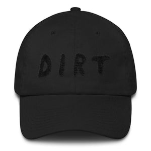 dirt shop hat made in the usa black with black embroidery