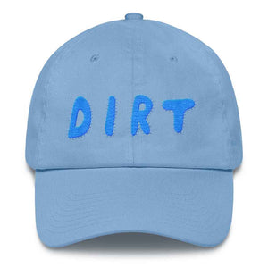 dirt shop hat made in the usa Carolina blue with aqua embroidery