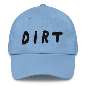 dirt shop hat made in the usa Carolina blue with black embroidery