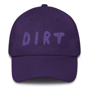 dirt shop hat made in the usa purple with purple embroidery