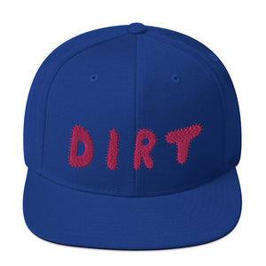 DIRT Snapback Hat with Pink Embroidery - DIRT