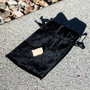 free black velvet pouch with tarot card deck purchase