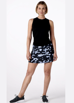 Load image into Gallery viewer, Dark blue/Dark Gray Camo Tennis Skirt