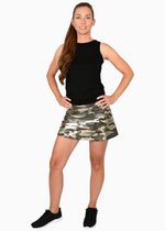Load image into Gallery viewer, Olive Camo Foil Tennis Skirt