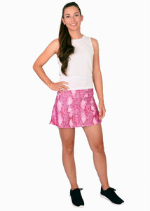 Pink Snake Tennis Skirt and Pink Shorts