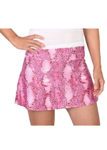 Load image into Gallery viewer, Pink Snake Tennis Skirt and Pink Shorts