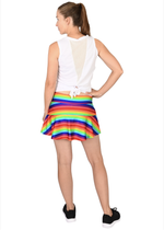 Load image into Gallery viewer, Rainbow Love is Everything Tennis Skirt with Blue Shorts