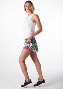 Beautiful Tropical Swing Tennis Skirt with Pink Shorts