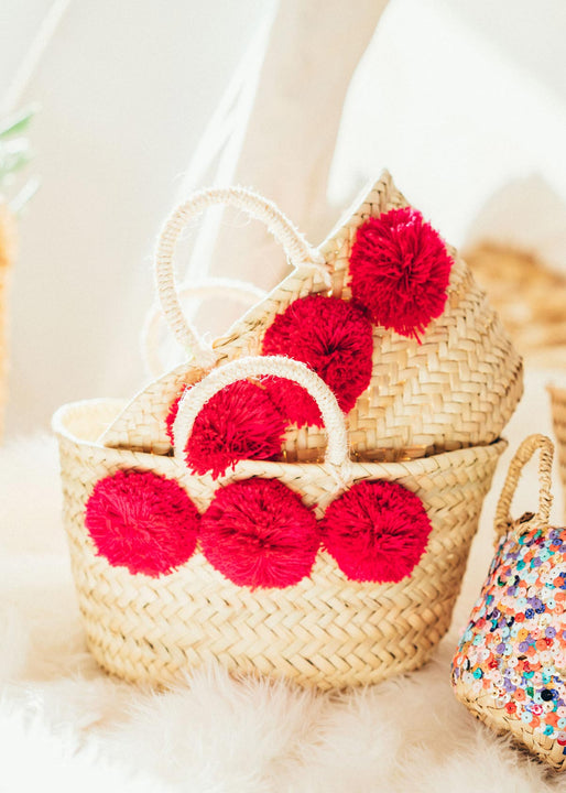 Mini Market Pom Baskets