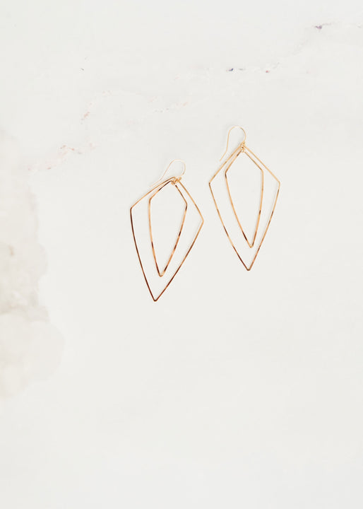 Gold Pendulum Earrings