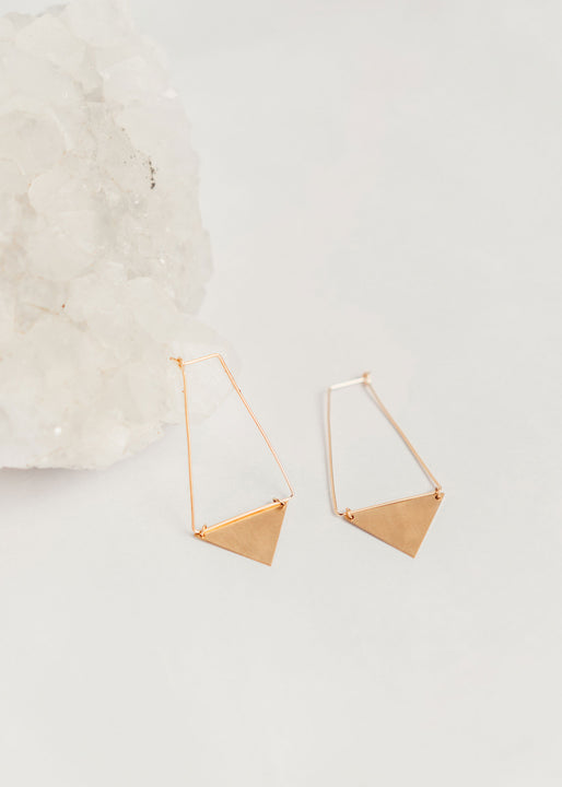 Gold Banner Earrings