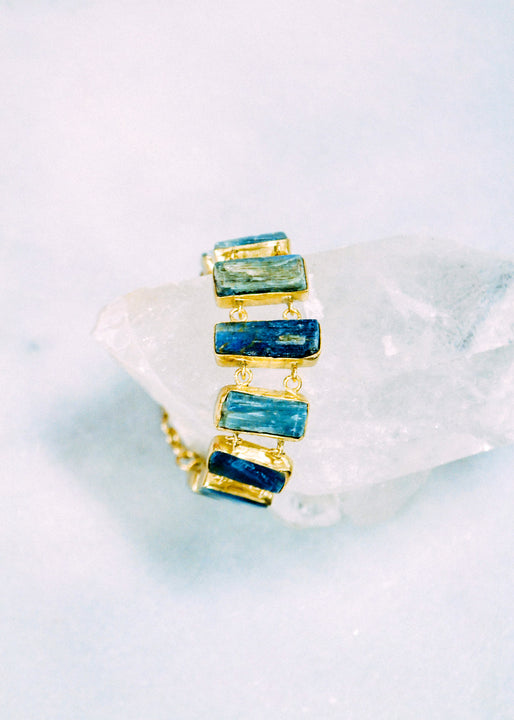 Kyanite Ladder Bracelet Margot Elena