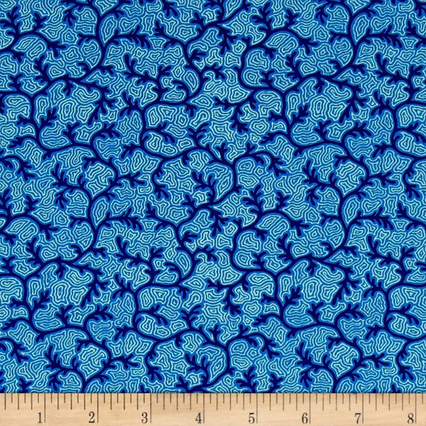 Neptune & The Mermaid Fabric | Salt & Sea | Navy