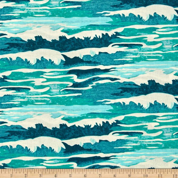 Neptune & The Mermaid Fabric | Oceanus | Aqua
