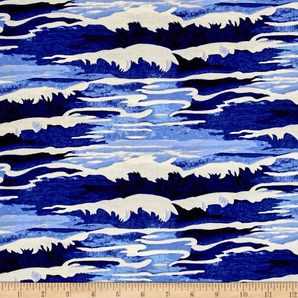 Neptune & The Mermaid Fabric | Oceanus | Navy