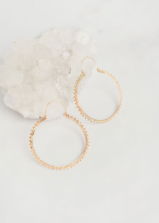 Indra Brass Hoop Earrings