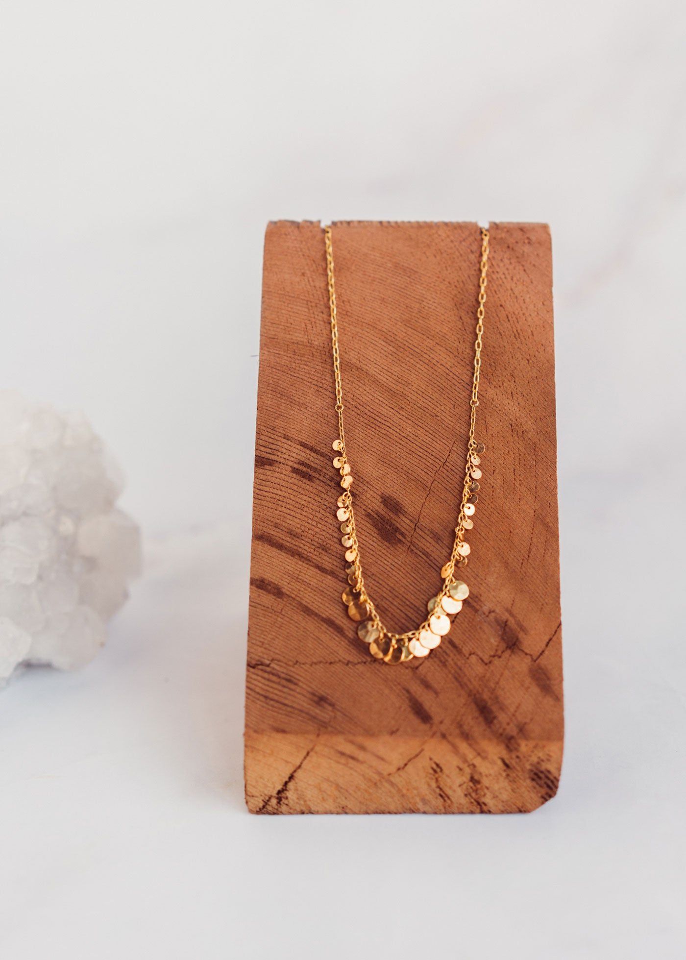 Brass Disc Bib Necklace