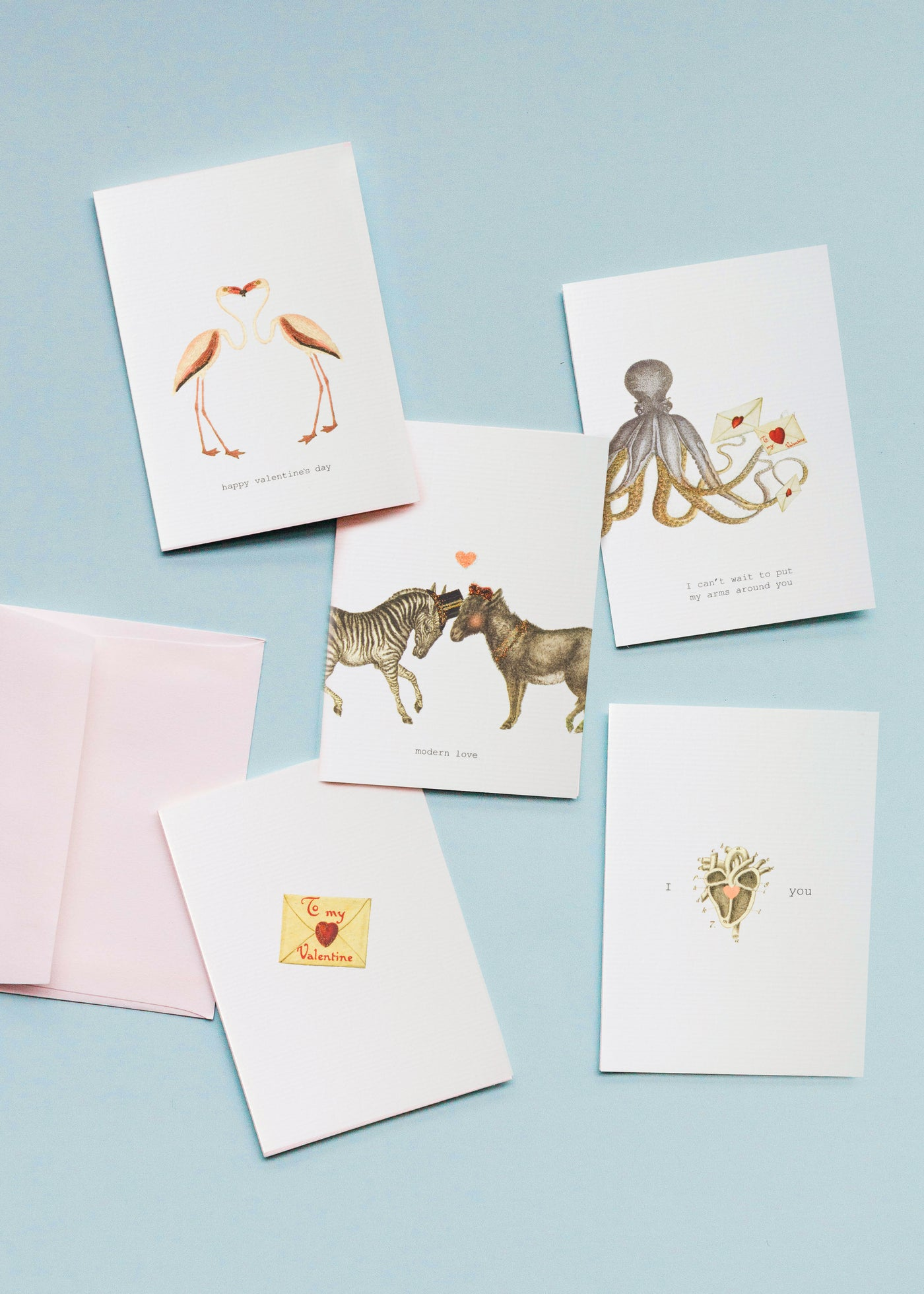 Valentine's Day Greeting Card Set