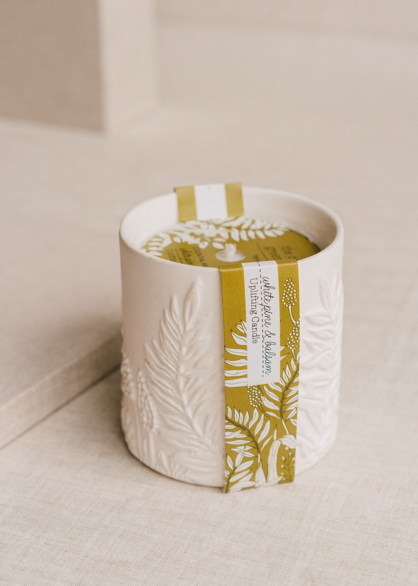 White Pine & Balsam Ceramic Candle