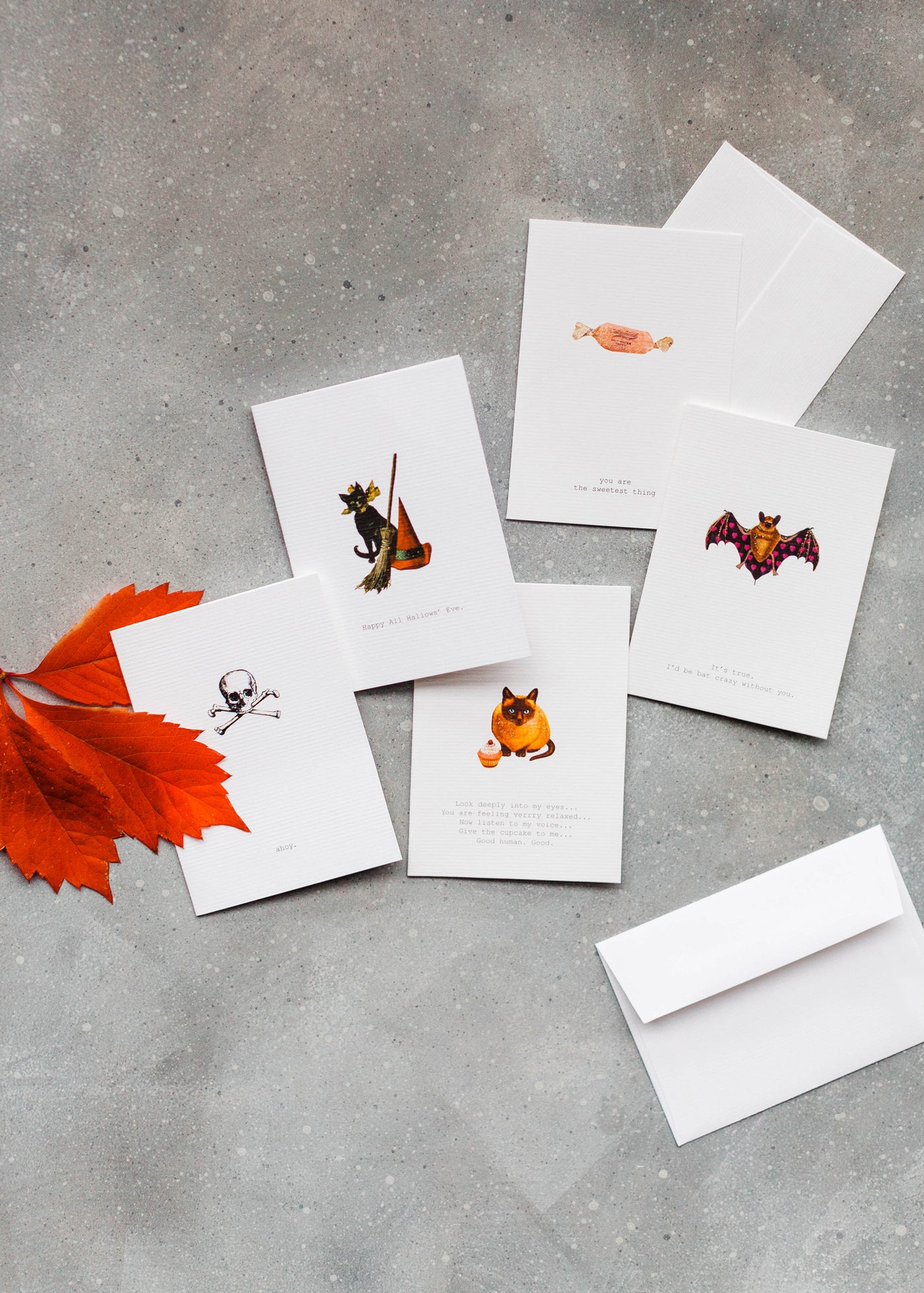 Halloween Greeting Card Set of Five