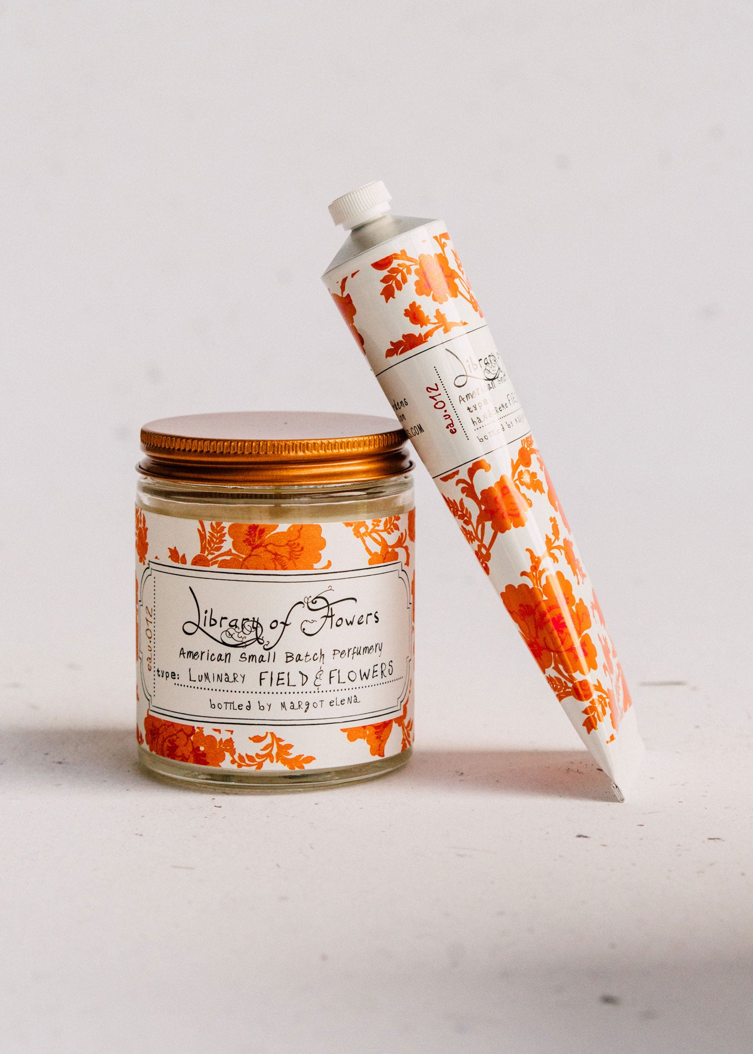 Field & Flowers Duo | Hand Cream & Candle | Library of Flowers