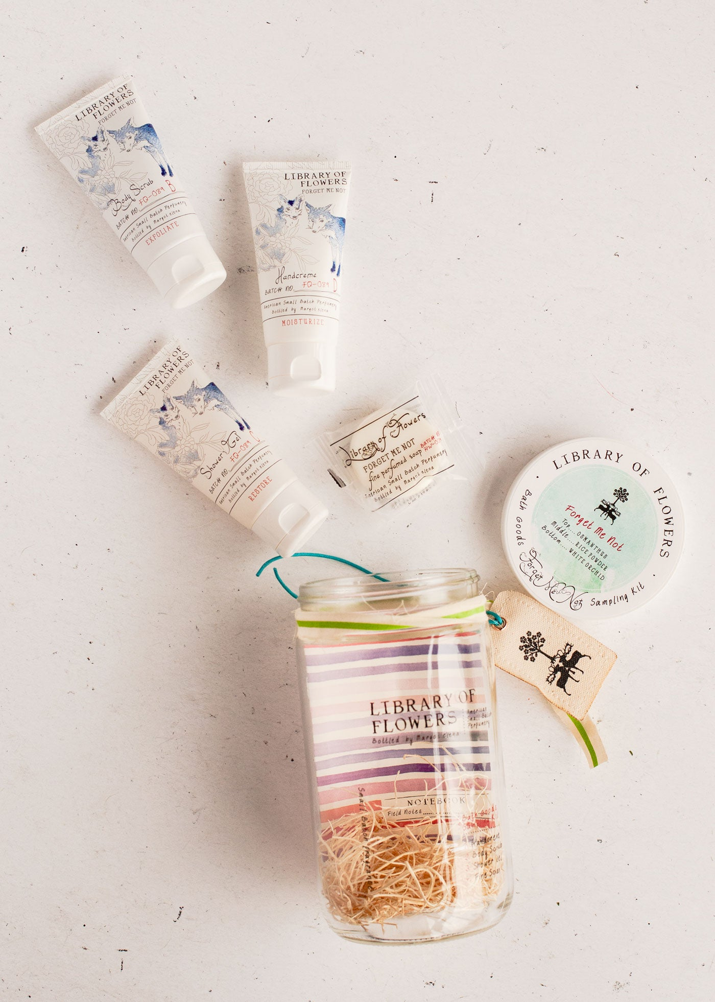Forget Me Not Bath Goods Sampling Kit