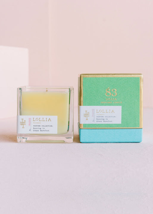 Running In Grass Barefoot Poetic License Candle