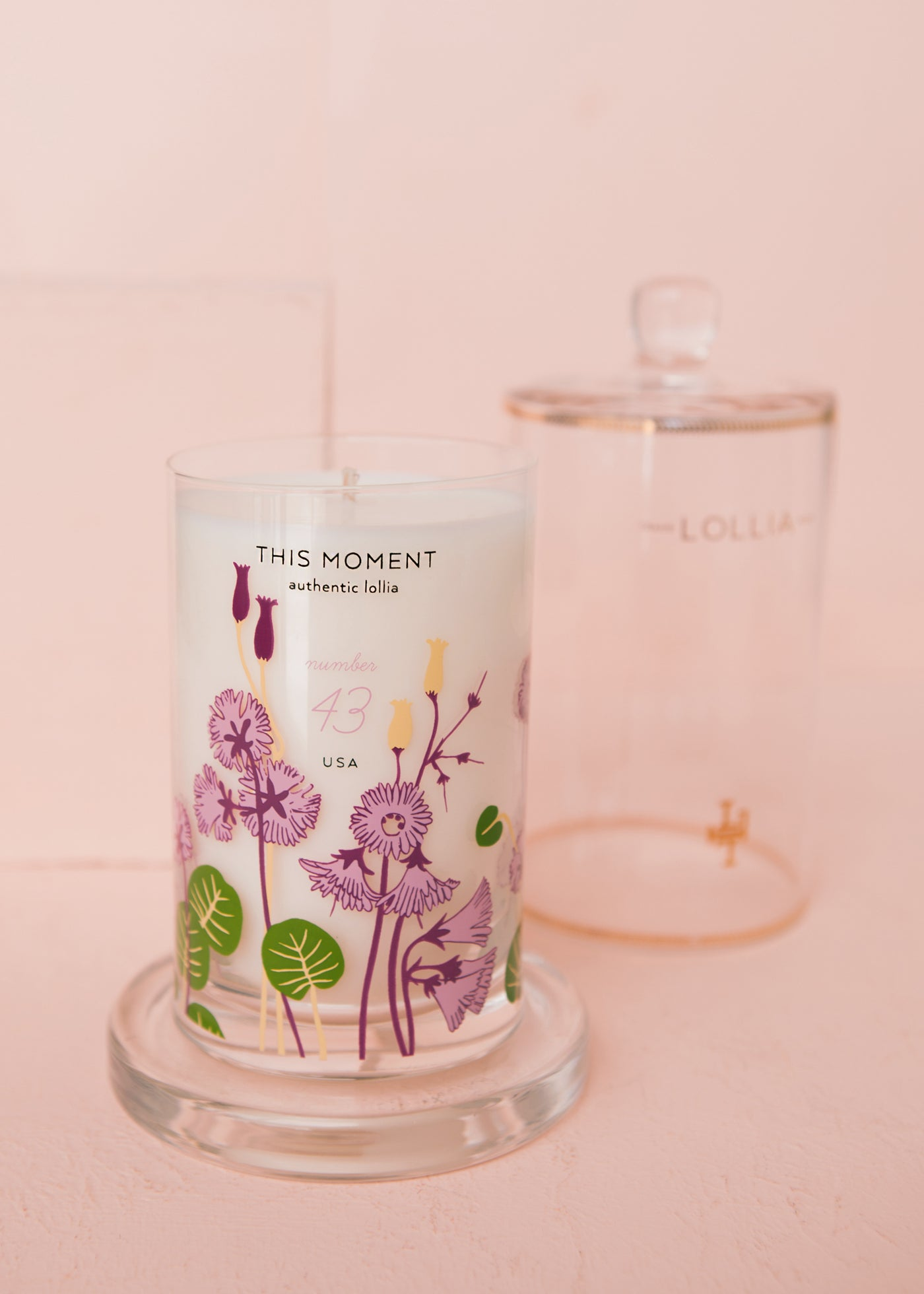 This Moment Candle with Cloche Cover