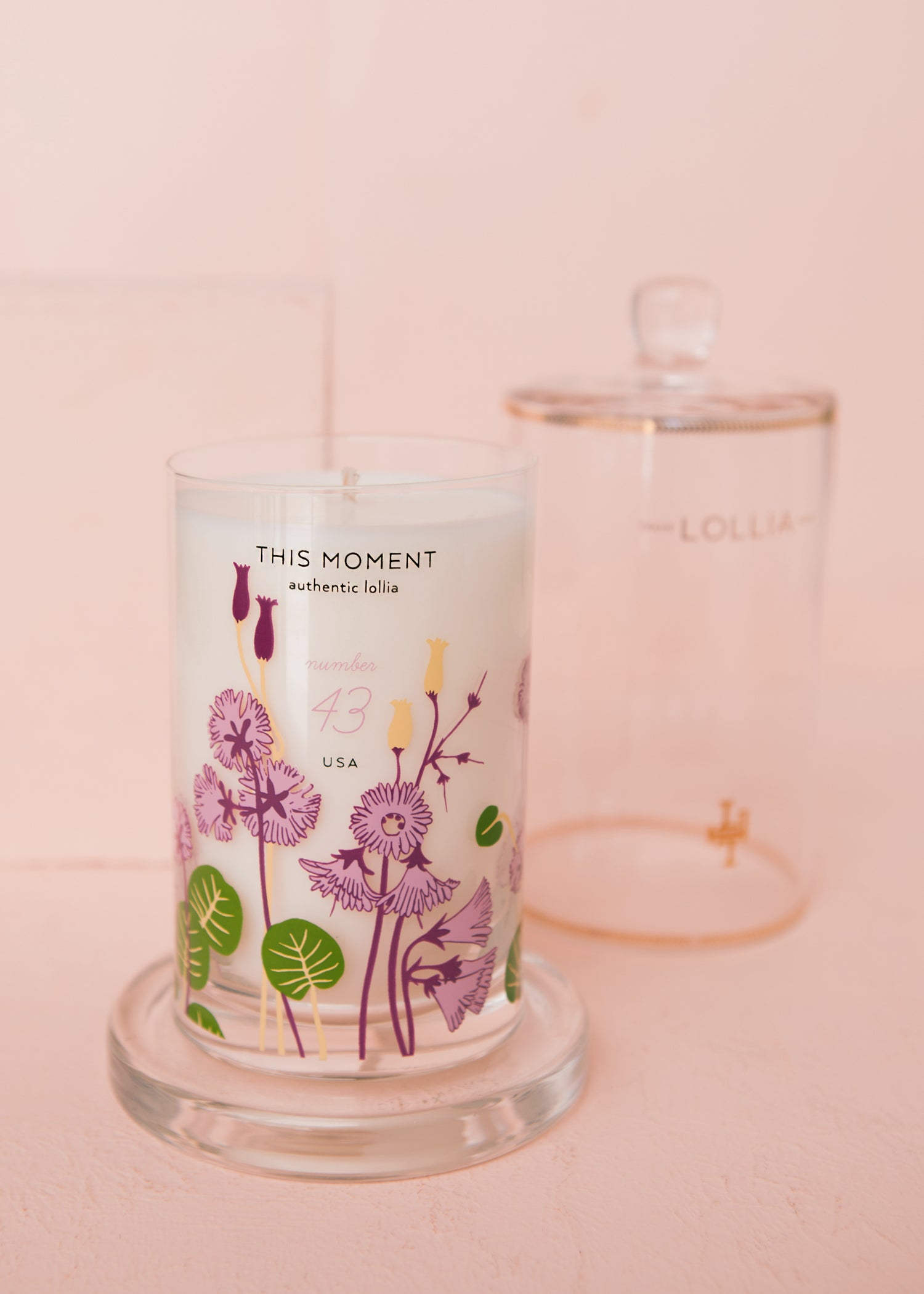 This Moment Glass Candle with Cloche
