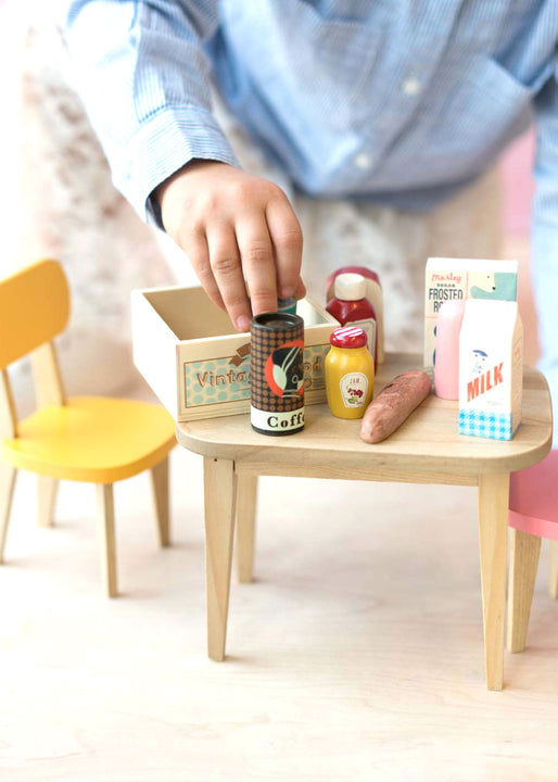 Vintage Mini Food in Wooden Box