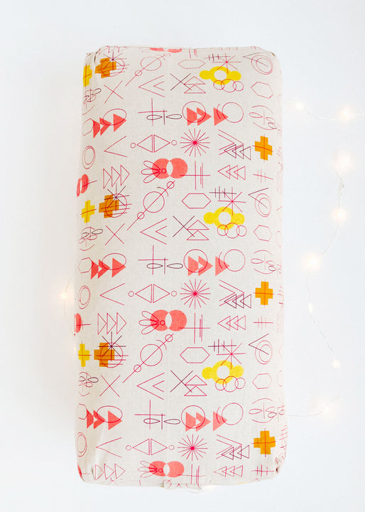 Custom Made Yoga Bolster | Retro