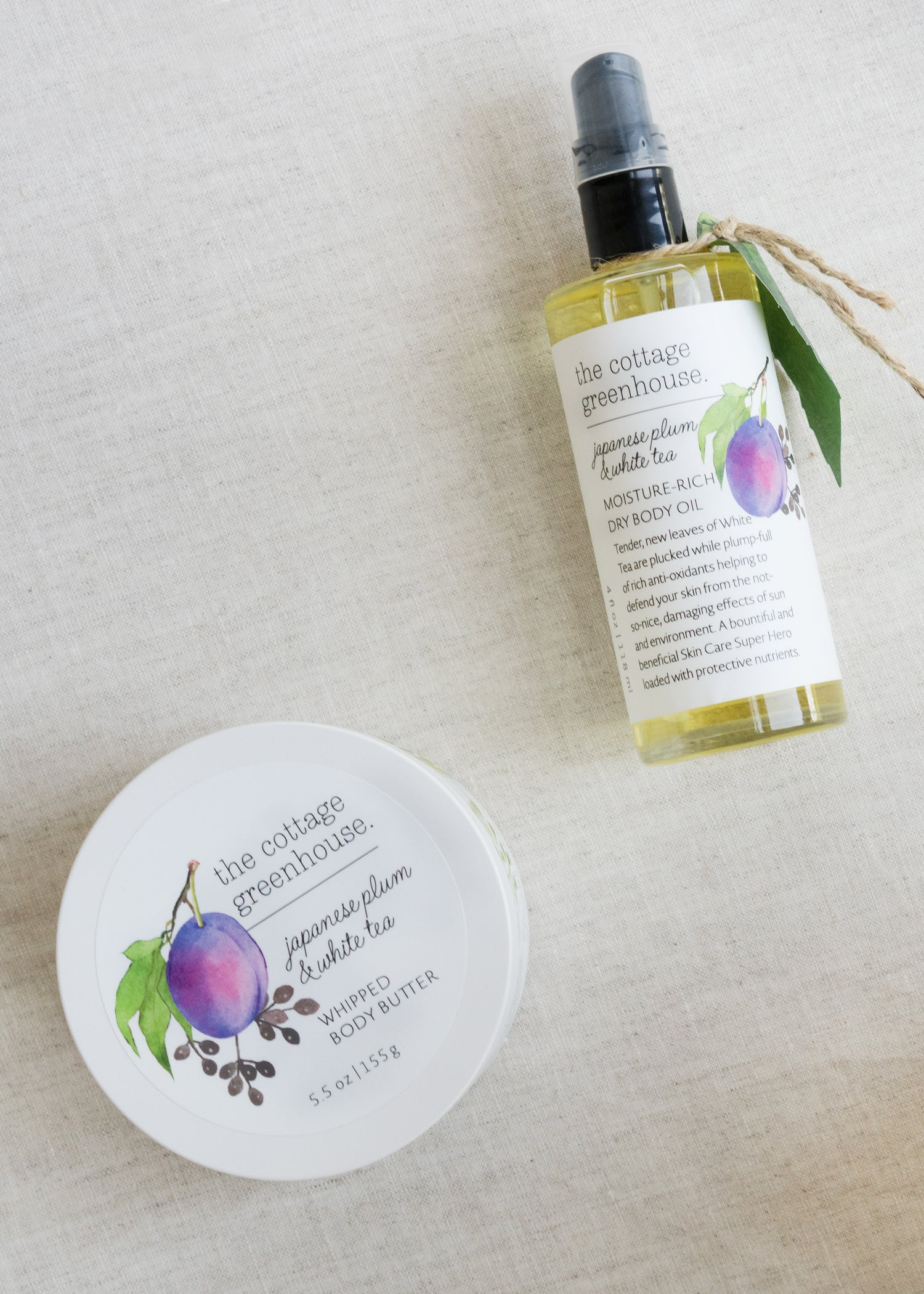 Japanese Plum Body Butter & Dry Body Oil Duo