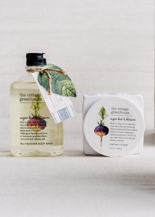 Sugar Beet & Blossom Salt Scrub & Body Wash Duo
