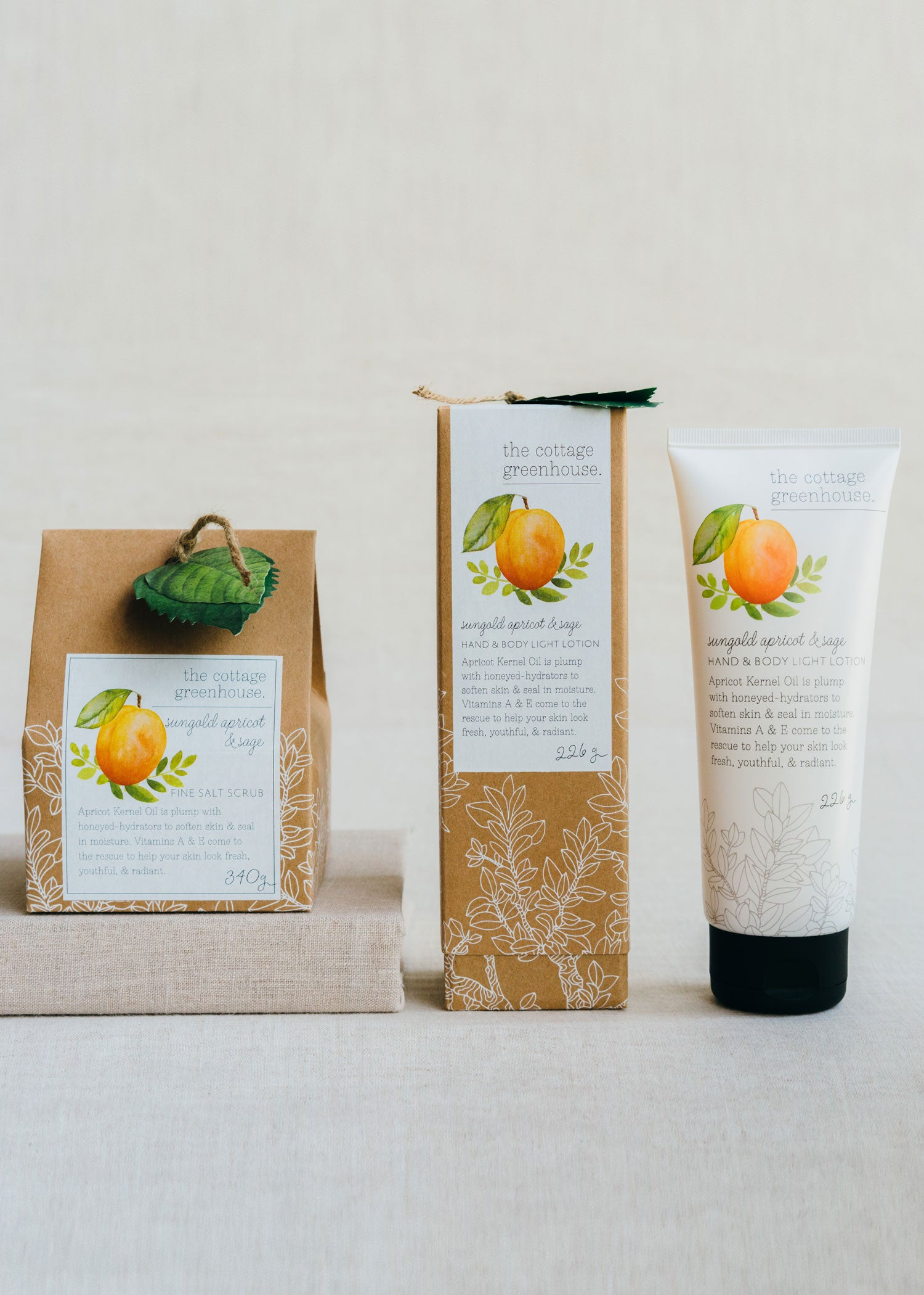 Sungold Apricot & Sage Lotion and Salt Scrub Duo