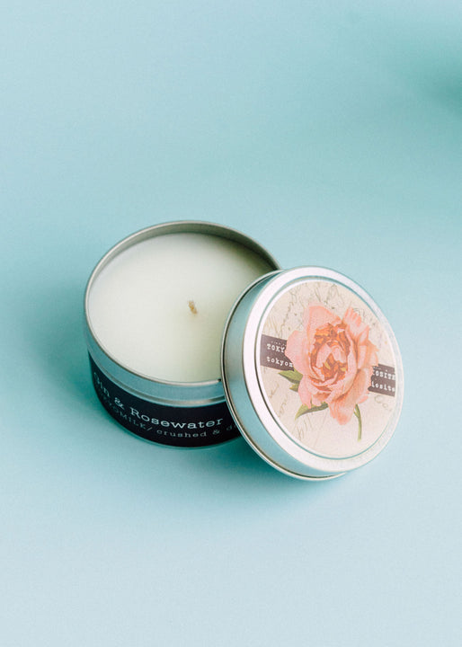 Gin & Rosewater Travel Candle