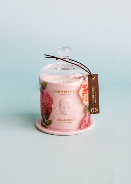 Dead Sexy Ceramic Candle with Cloche | Fearless