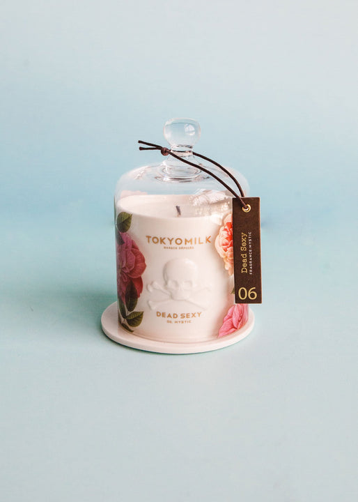 Dead Sexy Ceramic Candle with Cloche | Mystic
