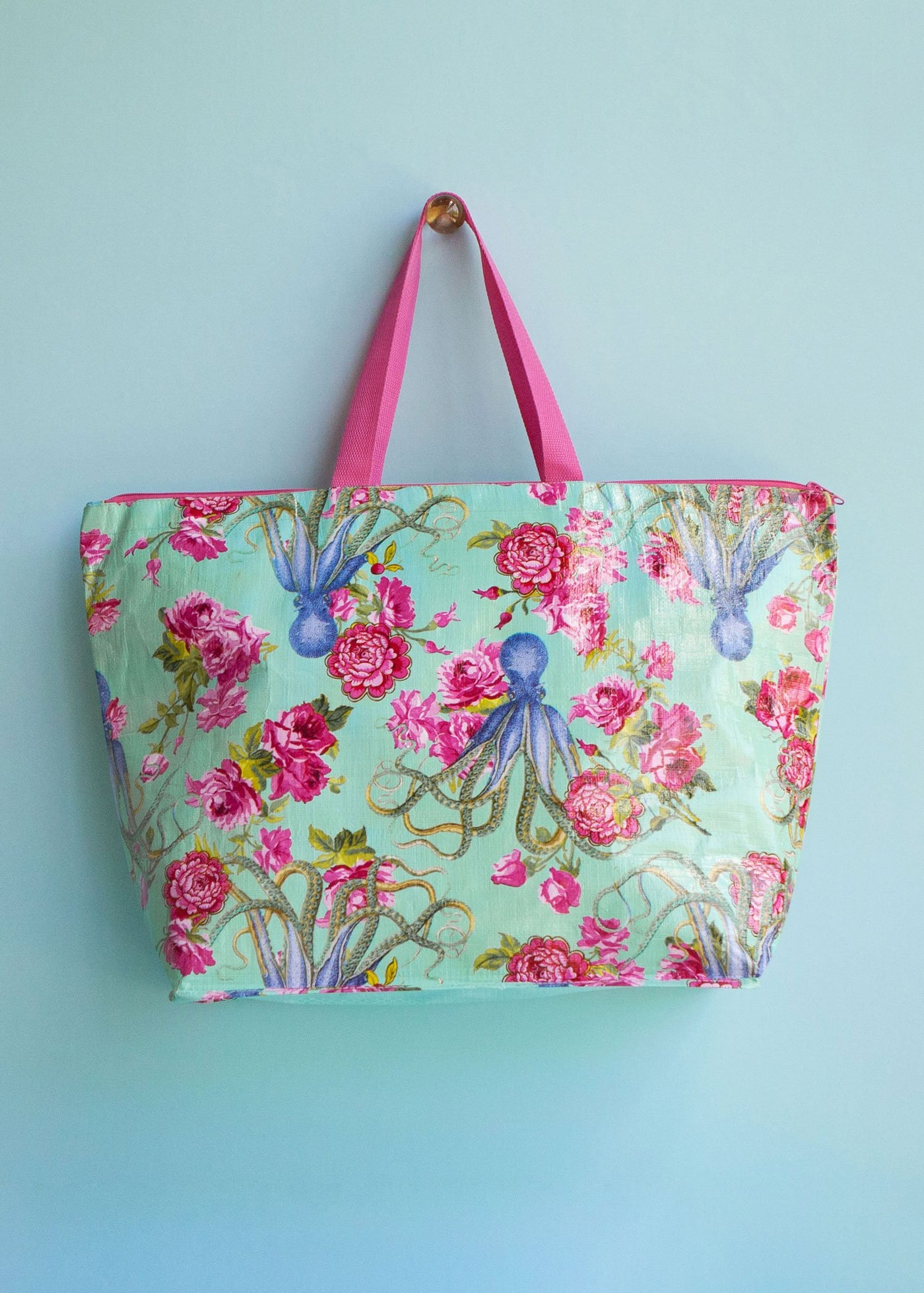 20,000 Flowers Under the Sea Large Tote