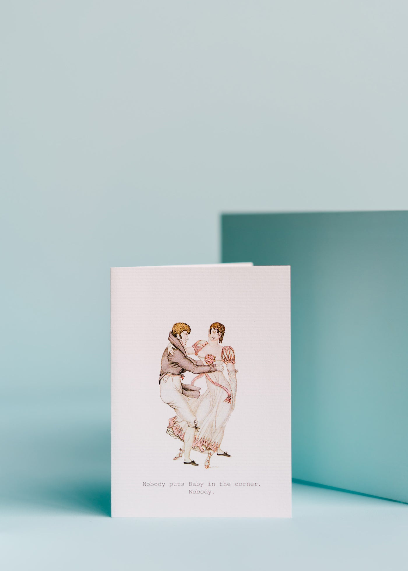 Baby In The Corner Greeting Card