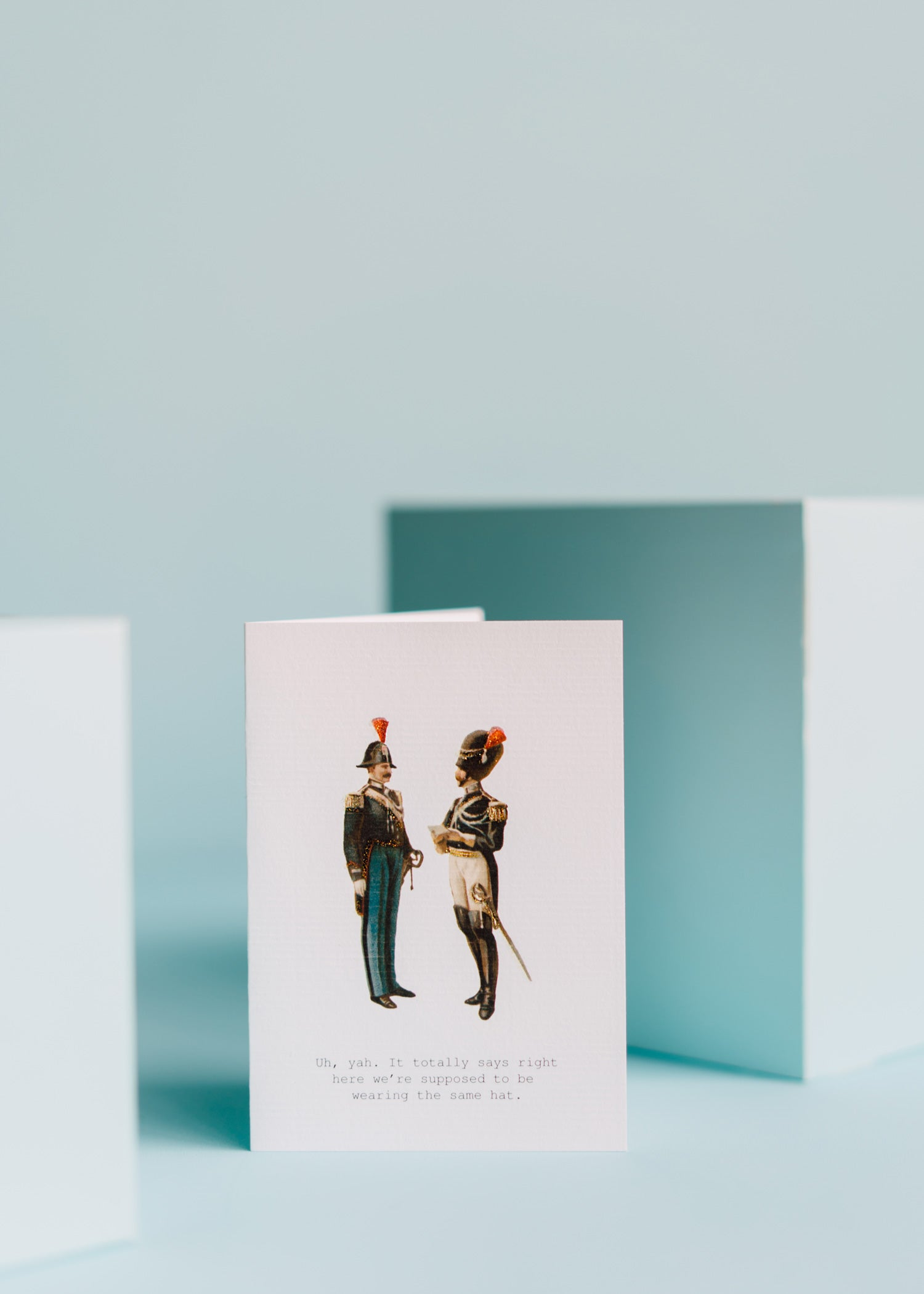 Men With Hats Greeting Card