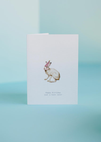 A Hare Late Birthday Card