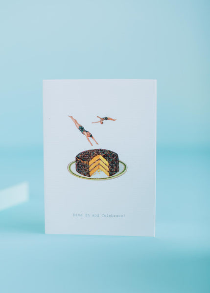 Dive In And Celebrate Birthday Card