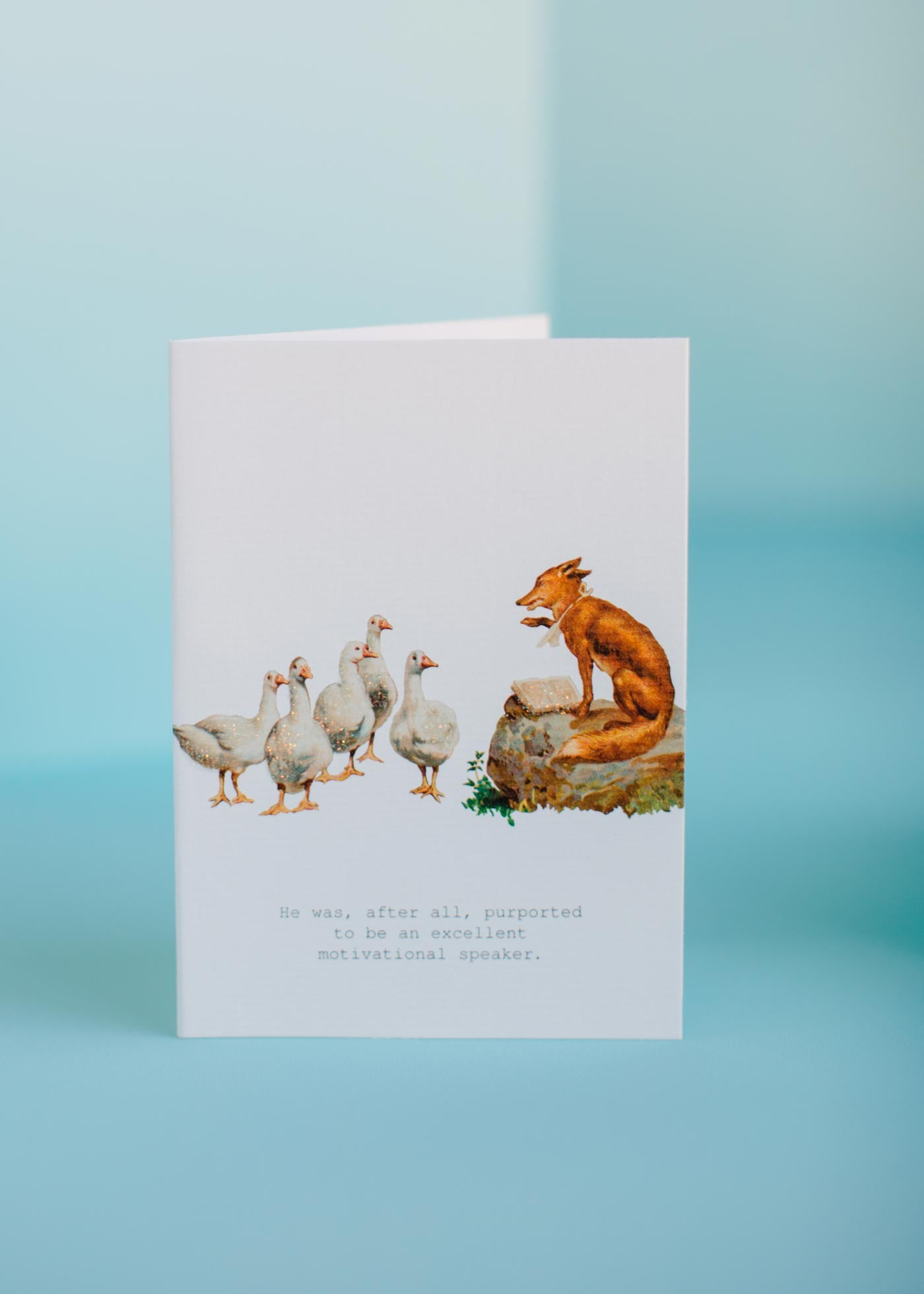 Motivational Fox Speaker Greeting Card