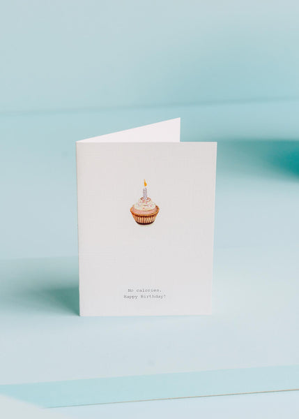 No Calories Birthday Card