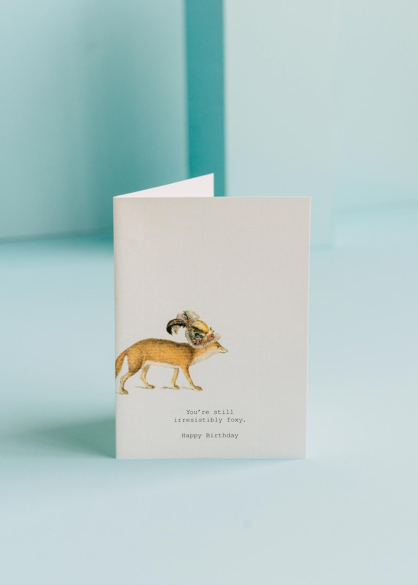 Still Irresistibly Foxy Birthday Card
