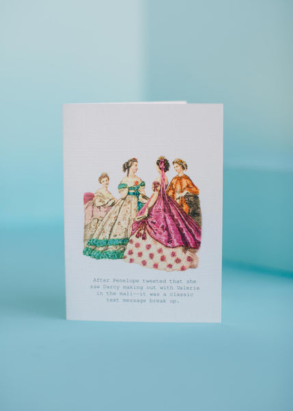 Text Message Break Up Greeting Card