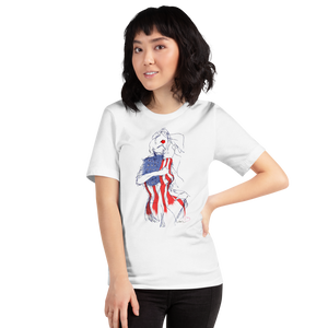LADY USA - Short-Sleeve Unisex T-Shirt