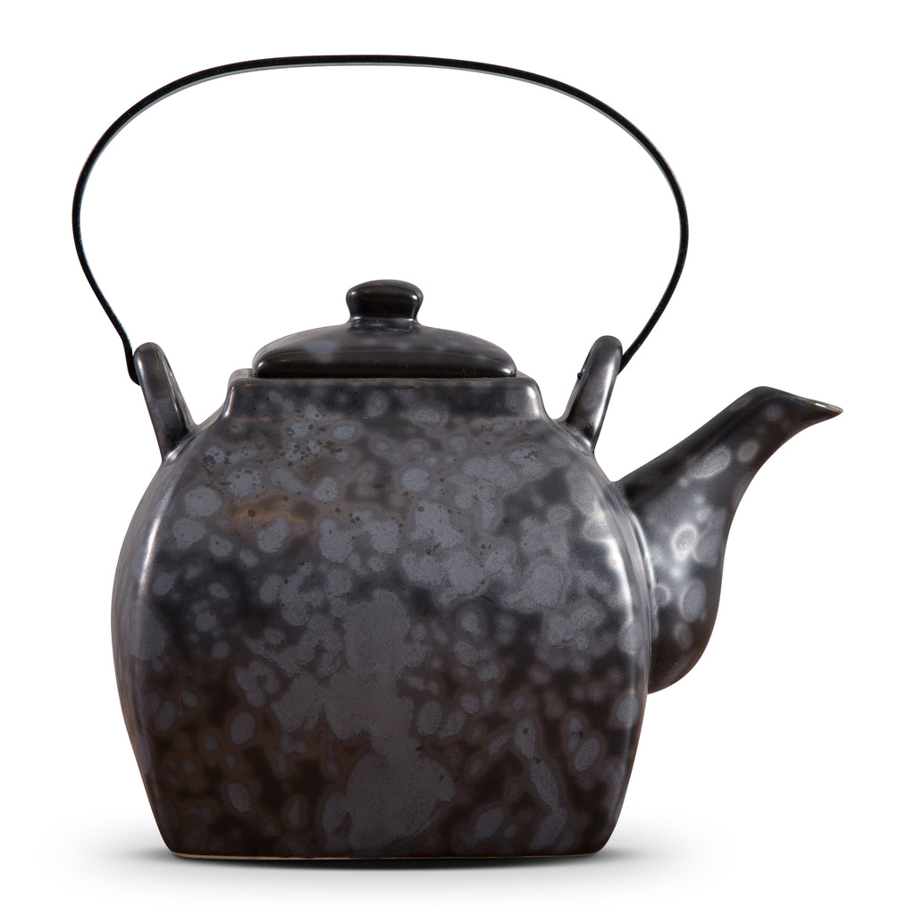 TEA POT WITH IRON HANDLE - MATT ROCK