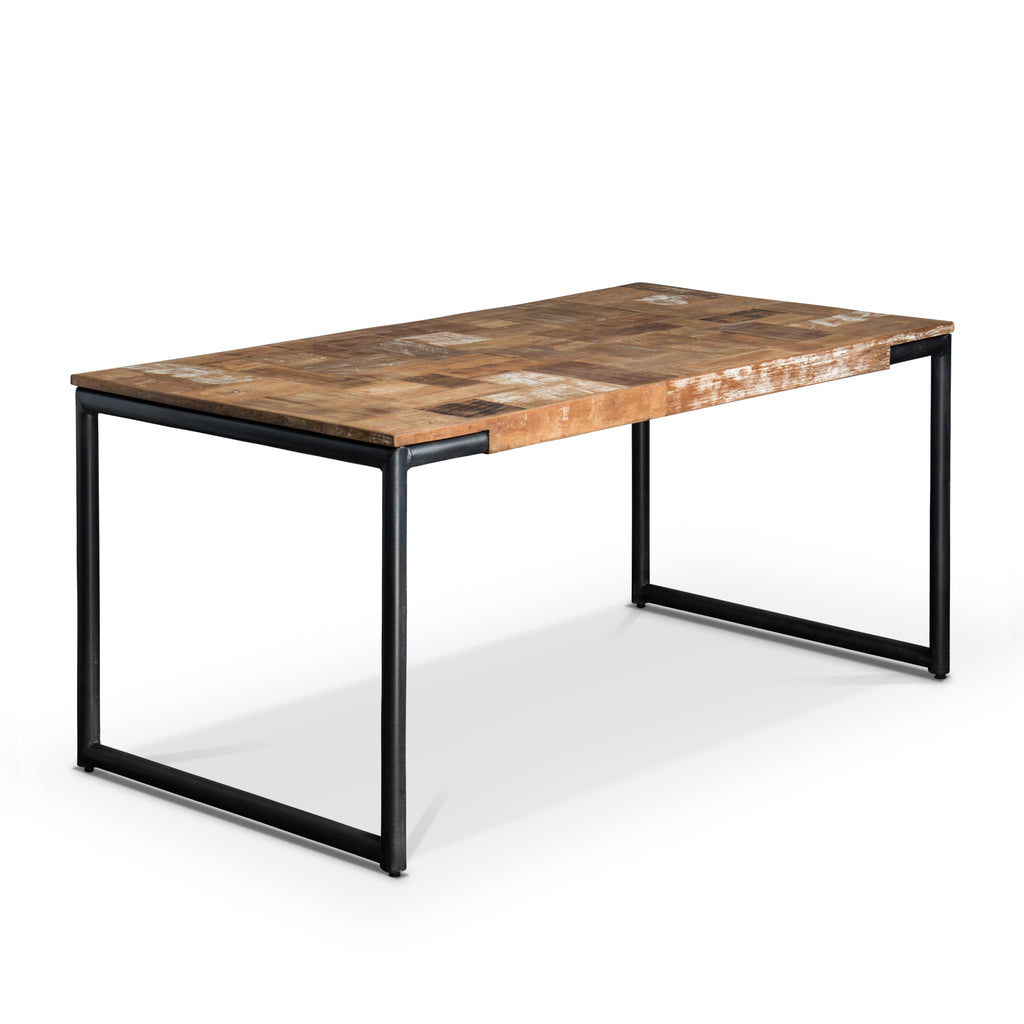 table contemporaine bois et metal ax93 jornalagora. Black Bedroom Furniture Sets. Home Design Ideas